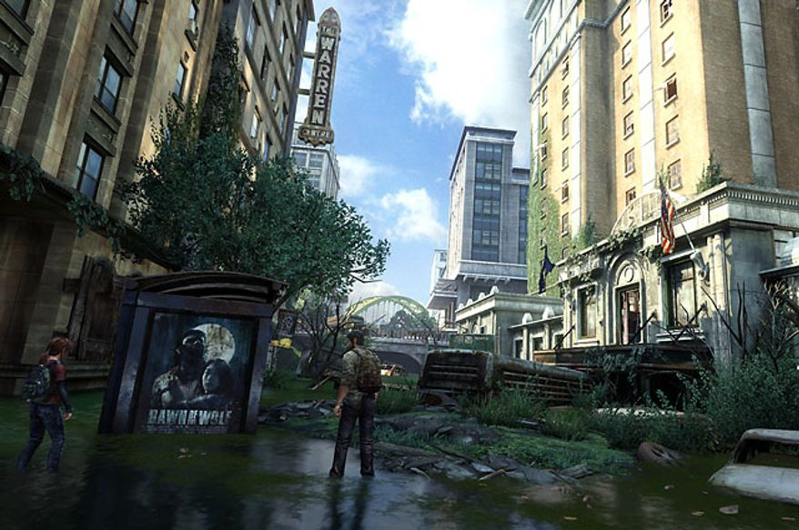 Naughty Dog delivers stunning landscapes in the video game The Last of Us.