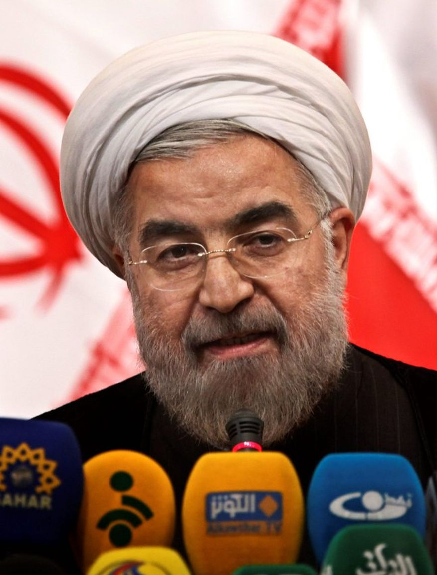 ** FILE ** Iranian president Hasan Rowhani. (Associated Press)