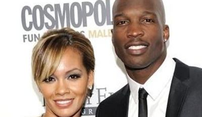 **FILE** This March 7, 2011 file photo shows NFL Football player and reality television star Chad Johnson and Evelyn Lozada attending Cosmopolitan Magazine's Fun Fearless Males of 2011 event in New York. Johnson could get jail time for a probation violation stemming from an altercation with his then-wife. The 35-year-old formerly known as Chad Ochocinco pleaded no contest to head-butting Lozada during an argument in August. (AP Photo/Evan Agostini, File)