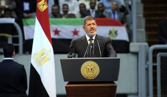 Egyptian President Mohammed Morsi (AP Photo/Egyptian Presidency)