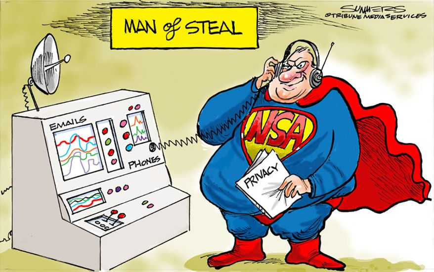 Man of Steal (Illustration by Dana Summers of the Tribune Media Services)