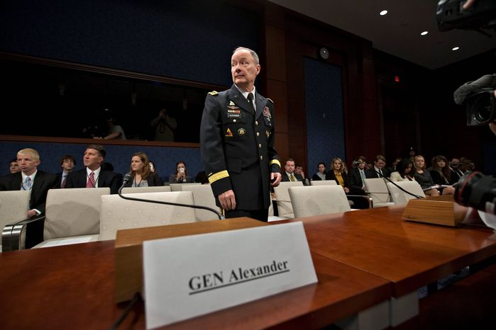 """""""We do have significant concerns [about contractors], and it is something that we need to look at,"""" says NSA Director Gen. Keith B. Alexander, on the leaks of top-secret information. (Associated Press)"""