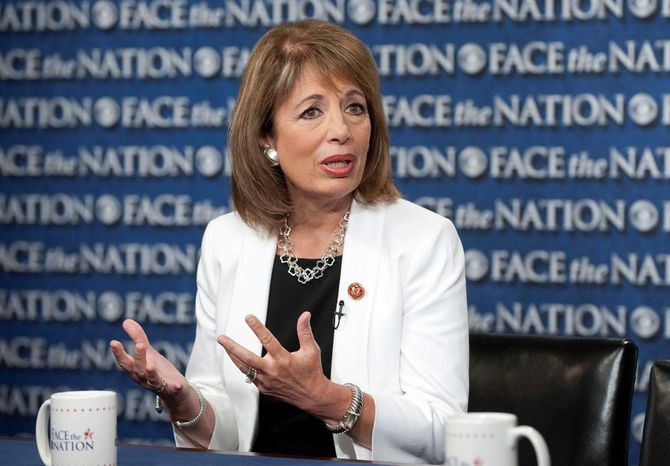 Rep. Jackie Speier, California Democrat, has put forward a bipartisan bill in Congress to slap federal penalties on so-called revenge porn.  (Associated Press) **FILE**