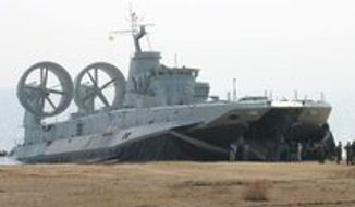 "A Zubr-class air-cushioned landing craft pushes China's amphibious capability ""to a new height."""