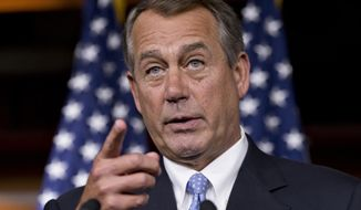 ** FILE ** House Speaker John A. Boehner, Ohio Republican. (Associated Press)