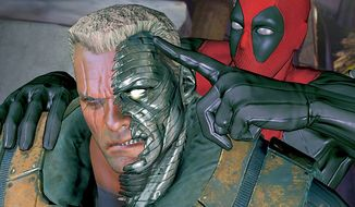 Marvel Comics' famed assassin annoys Cable in the video game Deadpool.
