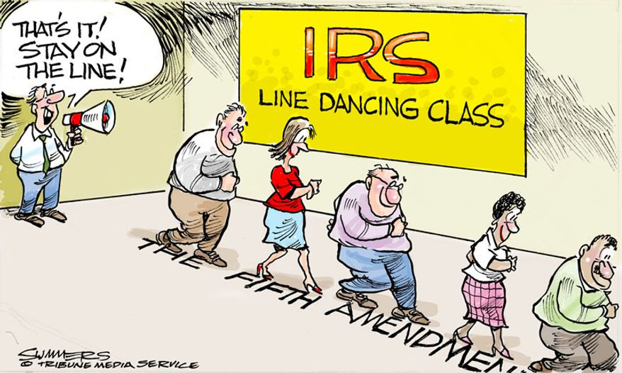 IRS Line Dancing Class (Illustration by Dana Summers of the Tribune Media Services)