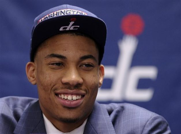 Washington Wizards 2013 top NBA draft pick Otto Porter speaks during a news conference at the Verizon Center in Washington, Friday, June 28, 2013. The Wizards selected Porter who was the third overal