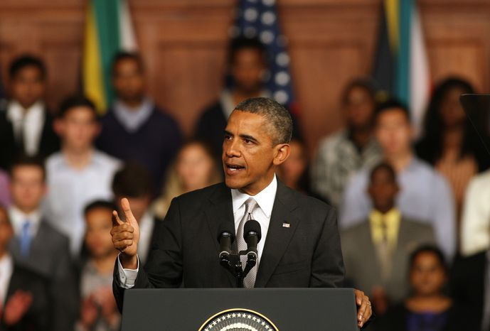 President Obama speaks at the University of Cape Town in South Africa on Sunday, June 30, 201