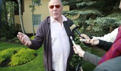 Media executive Barry Diller speaks with reporters at the Allen & Company Sun Valley Conference in Sun Valley, Idaho, on July 12, 2012. (Associated Press)
