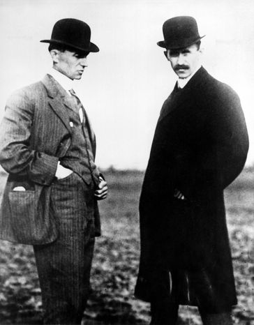 Wilbur and Orville Wright are credited with being the first to fly in 1903 but Connecticut lawmakers think that distinction belongs to one of their own in 1901. (Associated Press)