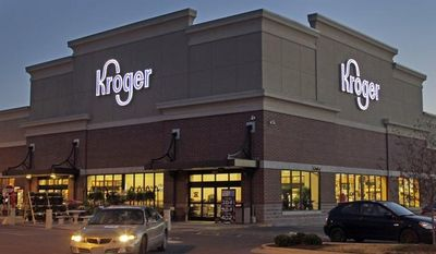 Kroger Co., the nation's largest supermarket chain, said on Tuesday, July 9, 2013, that it is buying the regional grocer Harris Teeter Supermarkets Inc. This Kroger store is in Indianapolis. (AP Photo/Michael Conroy)