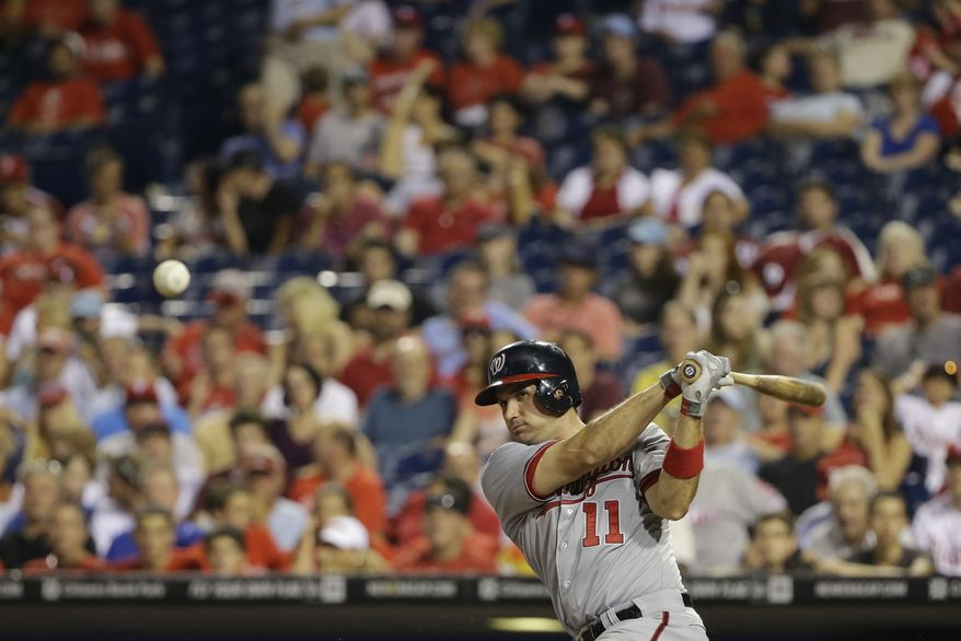 Ryan Zimmerman was one of four Nationals players to hit a solo home run off Cliff Lee in the Nationals' 5-1 victory over the Phillies on Wednesday night. (Associated Press photo)