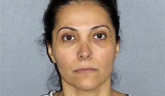 **FILE ** Meshael Alayban, who was arrested July 9, 2013 in Irvine, Calif., allegedly held a domestic servant against her will. Alayban, who prosecutors said is one of the wives of Saudi Prince Abdulrahman bin Nasser bin Abdulaziz al Saud, was expected to appear in an Orange County court for arraignment Thursday, July 11, 2013. (AP Photo/Irvine Police Department, File)