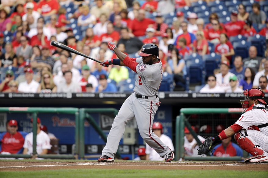 Denard Span was moved out of the leadoff spot on Sunday for the first time this season as the Washington Nationals shook up their lineup in the first-half finale. (Associated Press photo)