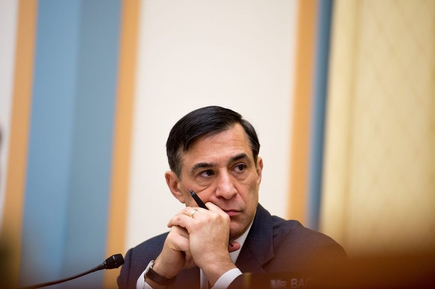 """Rep. Darrell E. Issa """"remains very supportive"""" of budget autonomy for the District, the California Republican's spokesman says. Voters approved the charter amendment in April but must wait for a congressional deadline to pass before it can take effect. (Andrew Harnik/The Washington Time)"""
