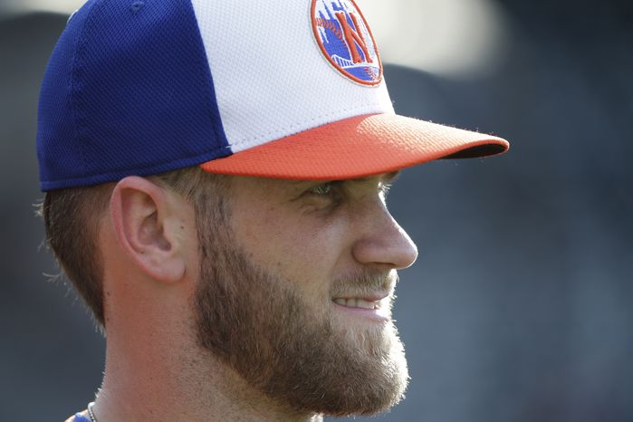 Bryce Harper hit eight home runs in the first round of the Home Run Derby. (Associated Press