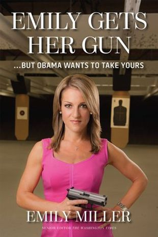 "The cover for ""Emily Gets Her Gun"" by Washington Times senior opinion editor Emily Miller was chosen via an online poll. It goes on sale Sept. 2. (Regnery Publishing)"