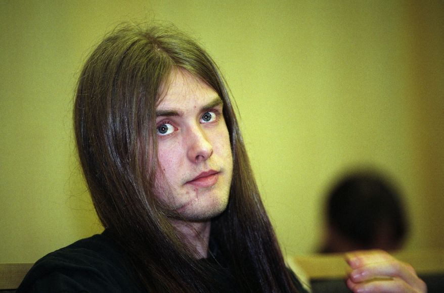 "Norwegian singer-activist Varg Vikernes, pictured in 1994, was arrested in France on Tuesday, July 16, 2013, on suspicion of planning ""a large terrorist act."" (AP Photo/NTB Scanpix, Johnny Syversen)"