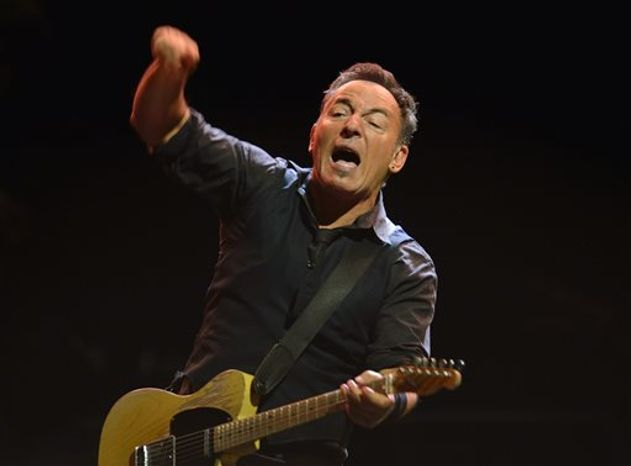 "Bruce Springsteen dedicated his protest song ""American Skin (41 Shots)"" to the late teen Trayvon Martin at a concert in Limerick, Ireland on Tuesday. The singer-songwriter is shown here performi"