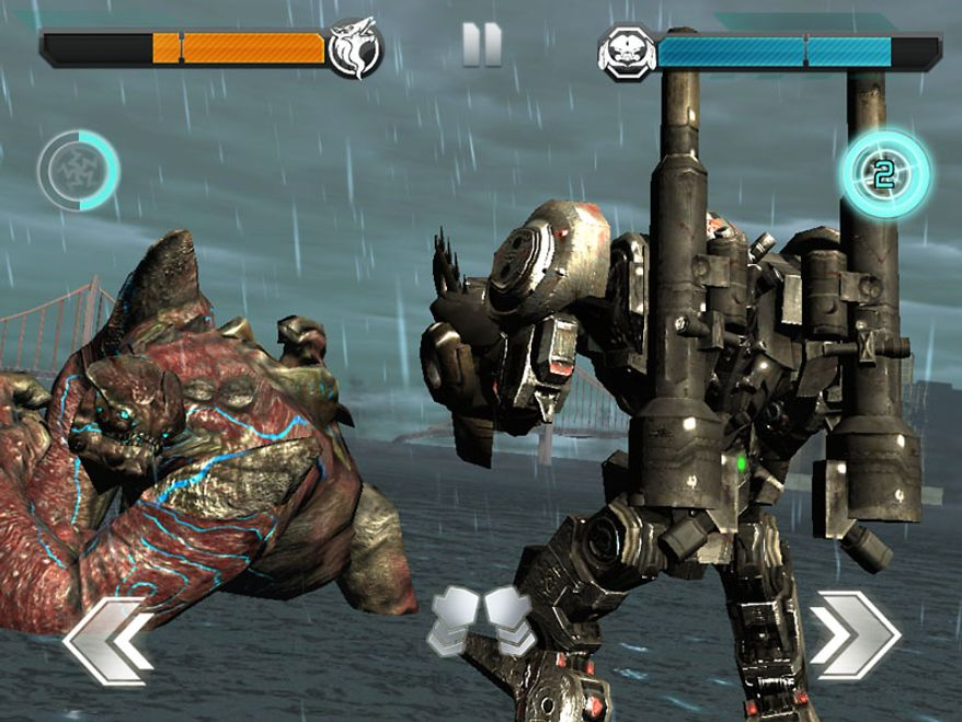It's mech versus massive beast in in the iPad game Pacific Rim based on the film.