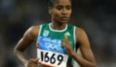 Former Olympic runner Meskerem Legesse, who had a known history of heart problems, collapsed and died Thursday, July 18, 2013. (YouTube screen shot)