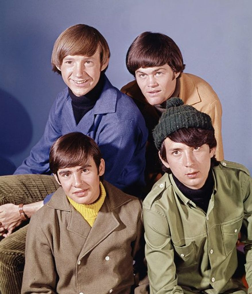 """Pop musical group, """"The Monkees"""" are shown in this Oct. 20, 1966 photo. At top are: Peter Tork, right, and Mickey Dolenz. At bottom are: David Jones, left, and Mike Nesmith. (AP Photo)"""