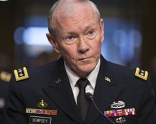 ** FILE ** Gen. Martin Dempsey, chairman of the Joint Chiefs of Staff. (AP Photo/J. Scott Applewhite)