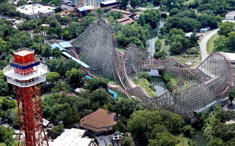 A woman fell to her death from the Texas Giant roller coaster at Six Flags Over Texas on Friday, July 19, 2013, in Arlington, Texas. The odds of being killed while