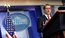 "White House press secretary Jay Carney said Wednesday on MSNBC's ""Morning Joe"" that Republicans are trying to make something out of nothing regarding conservative groups and the Internal Revenue Service. (Associated Press)"