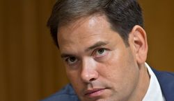"""Sen. Marco Rubio has pledged not to vote for any spending bill that would fund the Affordable Care Act, saying """"there are some issues that are so fundamental that we have to be willing to go all the way."""" (Associated Press)"""