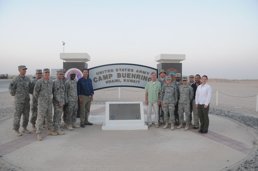 Virginia Gov. Bob McDonnell is part of a delegation that traveled to Kuwait and Afghanistan this week to visit troops (Photo courtesy of the Department of Defense)
