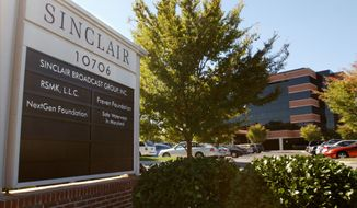 **FILE** The headquarters for Sinclair Broadcast Group in Hunt Valley, Md., is seen here in 2004. (Associated Press)