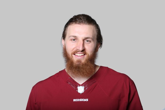 This is a 2013 photo of Logan Paulsen of the Washington Redskins NFL football team. This image reflects the Washington Redskins active roster as of Monday, June 10, 2013 when this image was taken. (AP Photo)