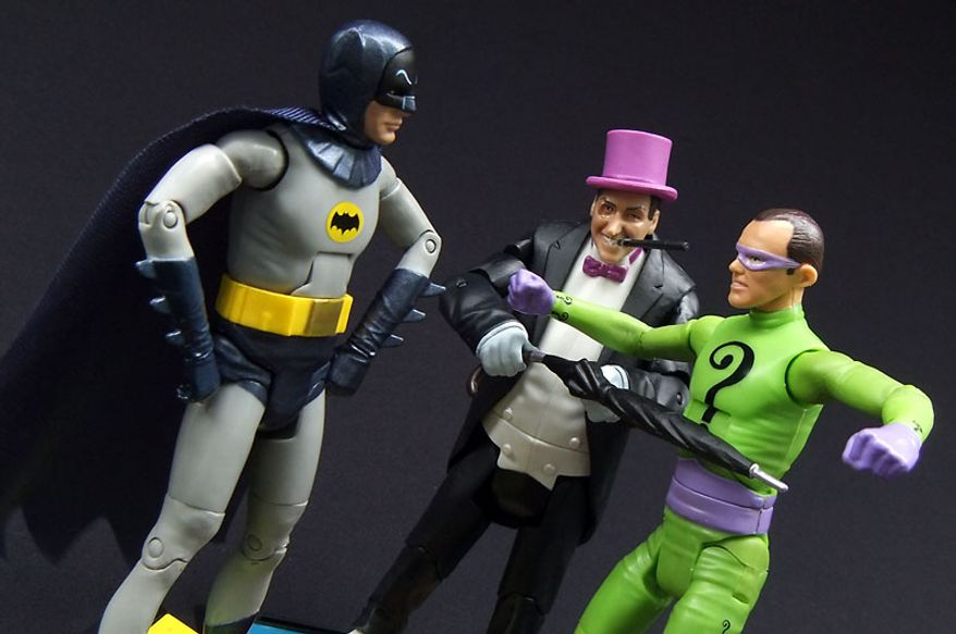 Mattel's Batman stands against The Penguin and The Riddler. (Photograph by Joseph Szadkowski / The Washington Times)