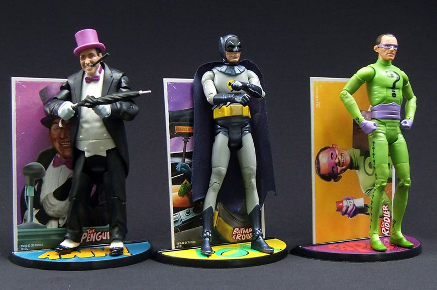 Mattel's Batman Classic TV Series collection of action figures includes The Penguin, Batman and The Riddler. (Photograph by Joseph Szadkowski / The Washington Times)