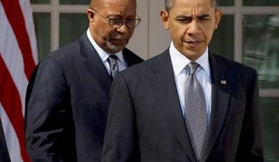 President Obama and Ron Kirk have renegotiated deals begun under President George W. Bush but have not made an enthusiastic push to pursue any more trade agreements, critics say. (Associated Press)