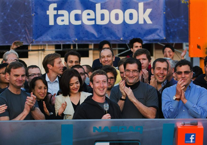 Facebook CEO Mark Zuckerberg was all smiles when the company went public in May 2012 with an opening bid of $38 per share. But the company's stock price promptly spiraled downward, hitting a low of $17.55 in September. On Wednesday, Facebook finally matched its much-hyped initial public offering price. (Associated Press)