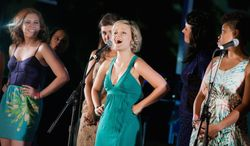 """Erin Driscoll will perform """"Barbara Cook's Songbook,"""" a celebration of the Tony Award-winning Broadway soprano famous for her roles in """"The Music Man"""" and """"Candide."""" Erin Driscoll (center) during a performance from last summers music series at Signature. (Photo by Christopher Mueller)"""