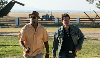 "Denzel Washington, left, and Mark Wahlberg in a scene from ""2 Guns."" (AP Photo/Universal Pictures, Patti Perret)"