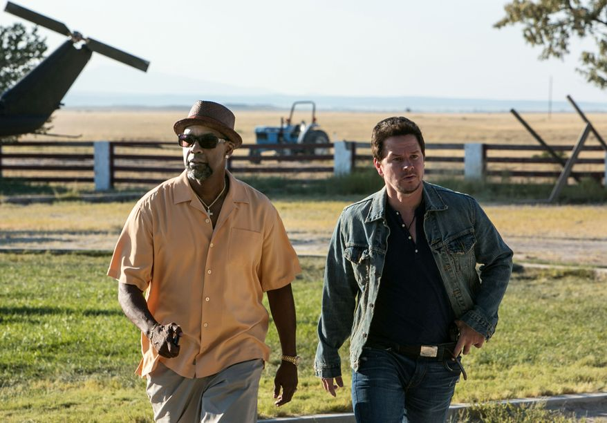 """Denzel Washington, left, and Mark Wahlberg in a scene from """"2 Guns."""" (AP Photo/Universal Pictures, Patti Perret)"""