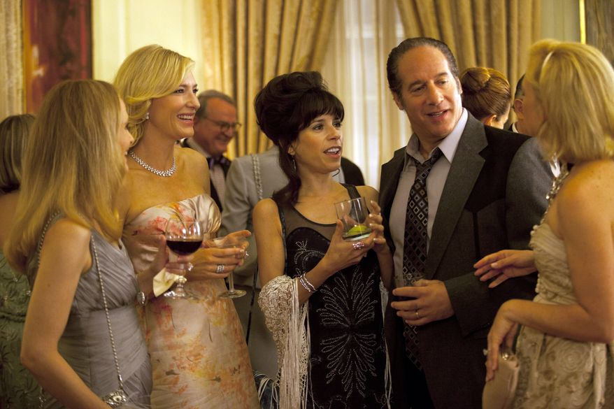 """From second left, Cate Blanchett, Sally Hawkins and Andrew Dice Clay in a scene from the Woody Allen film, """"Blue Jasmine."""" (AP Photo/Sony Pictures Classics)"""