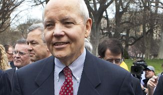 **FILE** John Koskinen is seen outside the White House on March 27, 2009. (Associated Press)