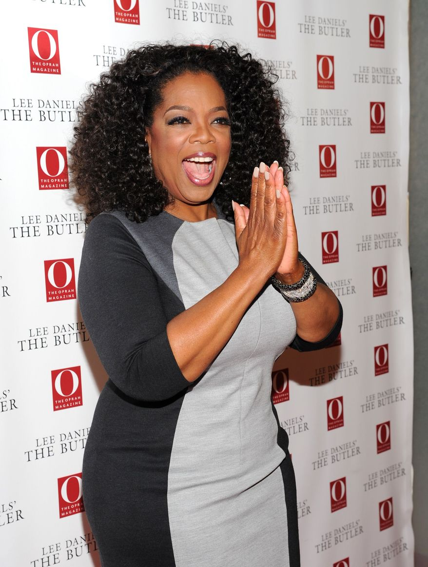 "Media mogul and actress Oprah Winfrey attends a special screening of ""Lee Daniels' The Butler"" hosted by O, The Oprah Magazine at Hearst Tower on Wednesday, July 31, 2013 in New York. (Photo by Evan Agostini/Invision/AP)"