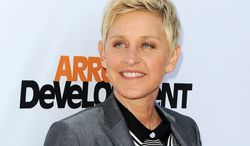 """Producers announced Friday, Aug. 2, that TV host Ellen DeGeneres (shown arriving at the season 4 premiere of """"Arrested Development"""" in Los Angeles) will return to host the Oscars on March 2, 2014. (Photo by Katy Winn/Invision/AP, File)"""
