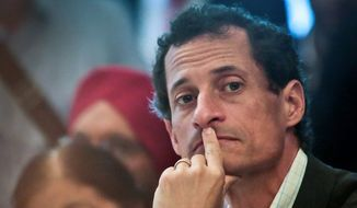 New York City mayoral candidate Anthony Weiner. ** FILE **