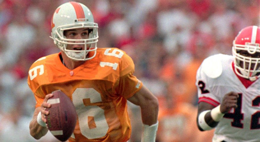 Peyton Manning as a Tennessee Volunteer.