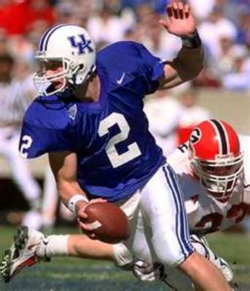 Tim Couch led the Kentucky Wildcats and turned his collegiate success into the top pick in the draft for the Cleveland Browns.