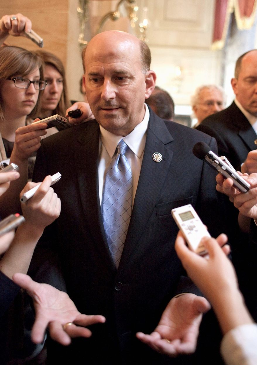 Rep. Louie Gohmert, Texas Republican, knows his party is deeply divided on risking a government shutdown by taking a stand against Obamacare. (associated press)