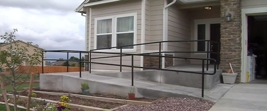 A couple in a Fountain, Colo., community are in a dispute with neighbors over a ramp at the front door of the family's house. The naeighbors said the ramp, which the couple installed for their handicapped daughter, threatens property values. (kktv.com)
